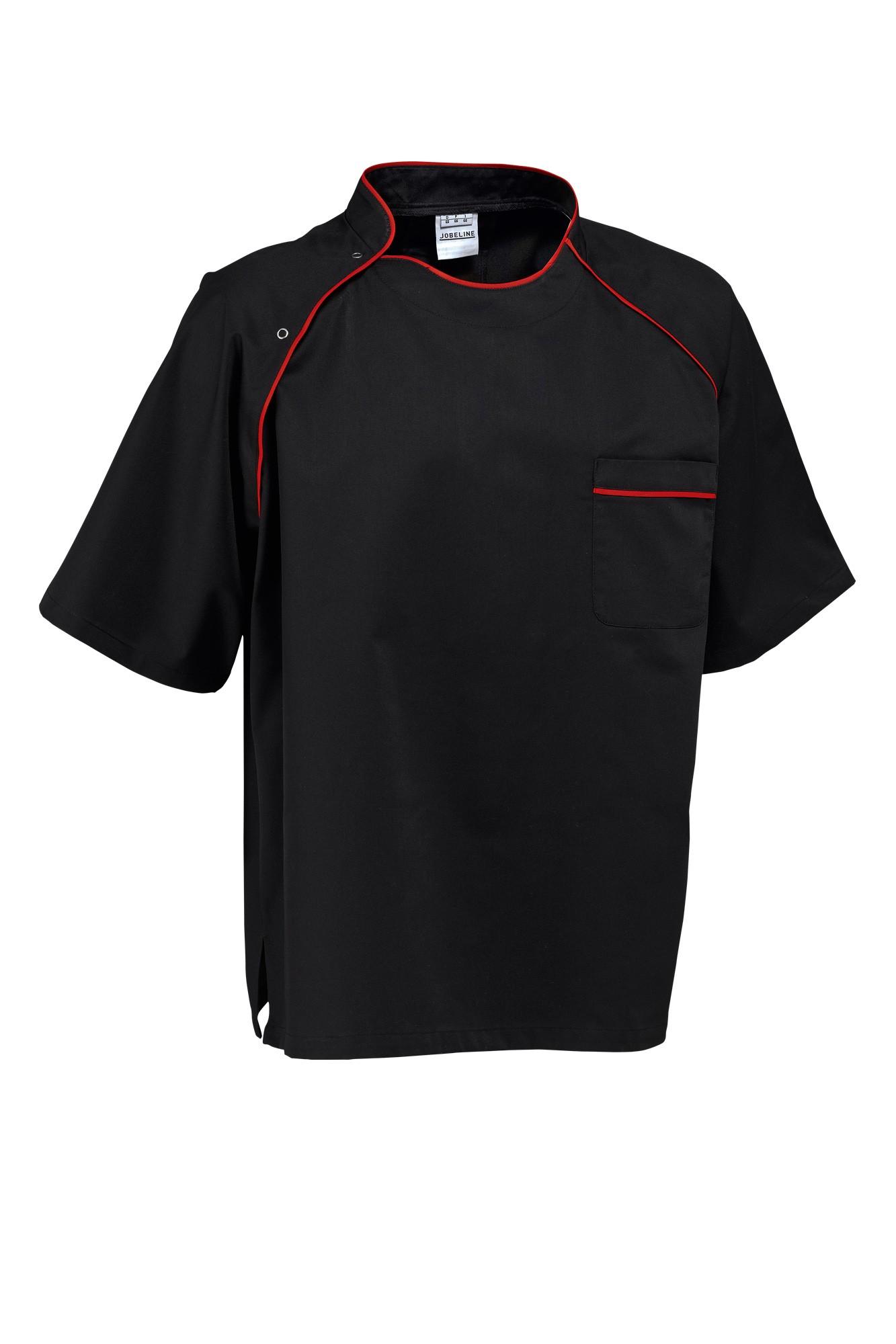 Rondon Pirlo - krátký rukáv - černá/lemování červené