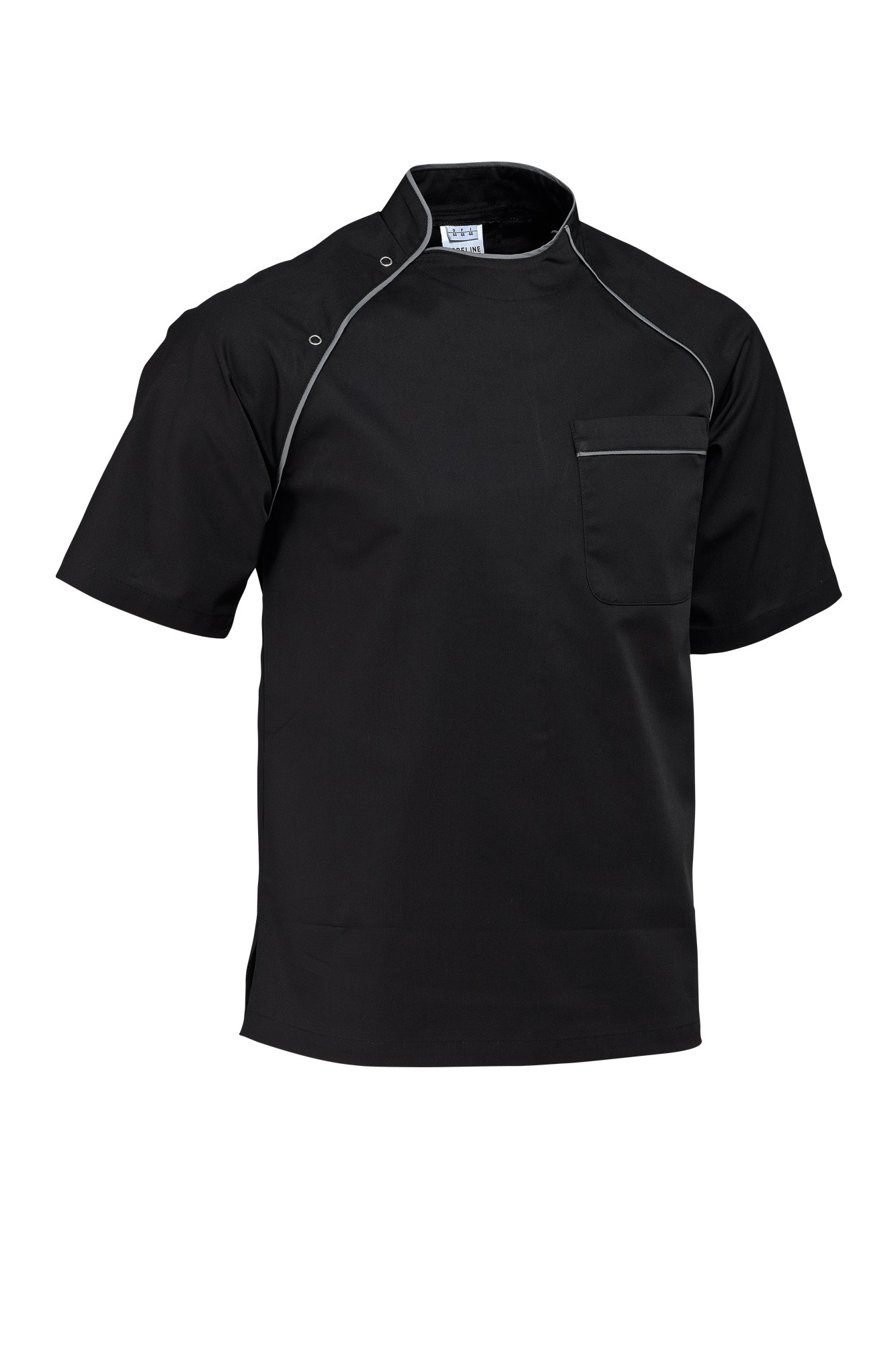 Rondon Pirlo - krátký rukáv - černá/lemování šedé