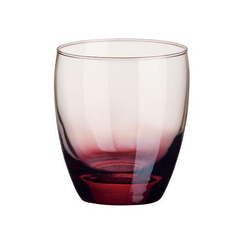 Univerzální sklenice Amantea mix, bordó, 340ml