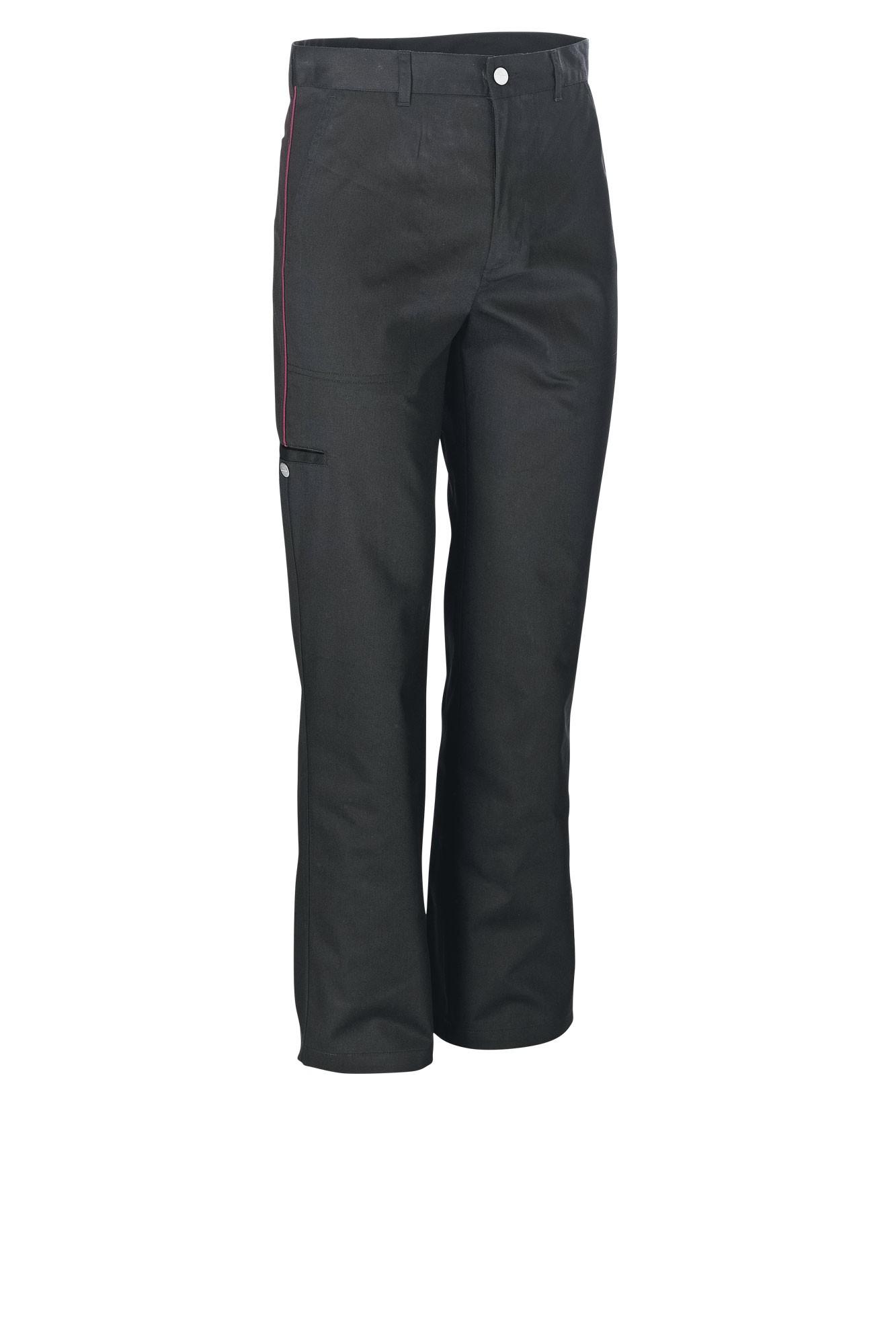 Pánské kalhoty Colin - černá/lem ostružina