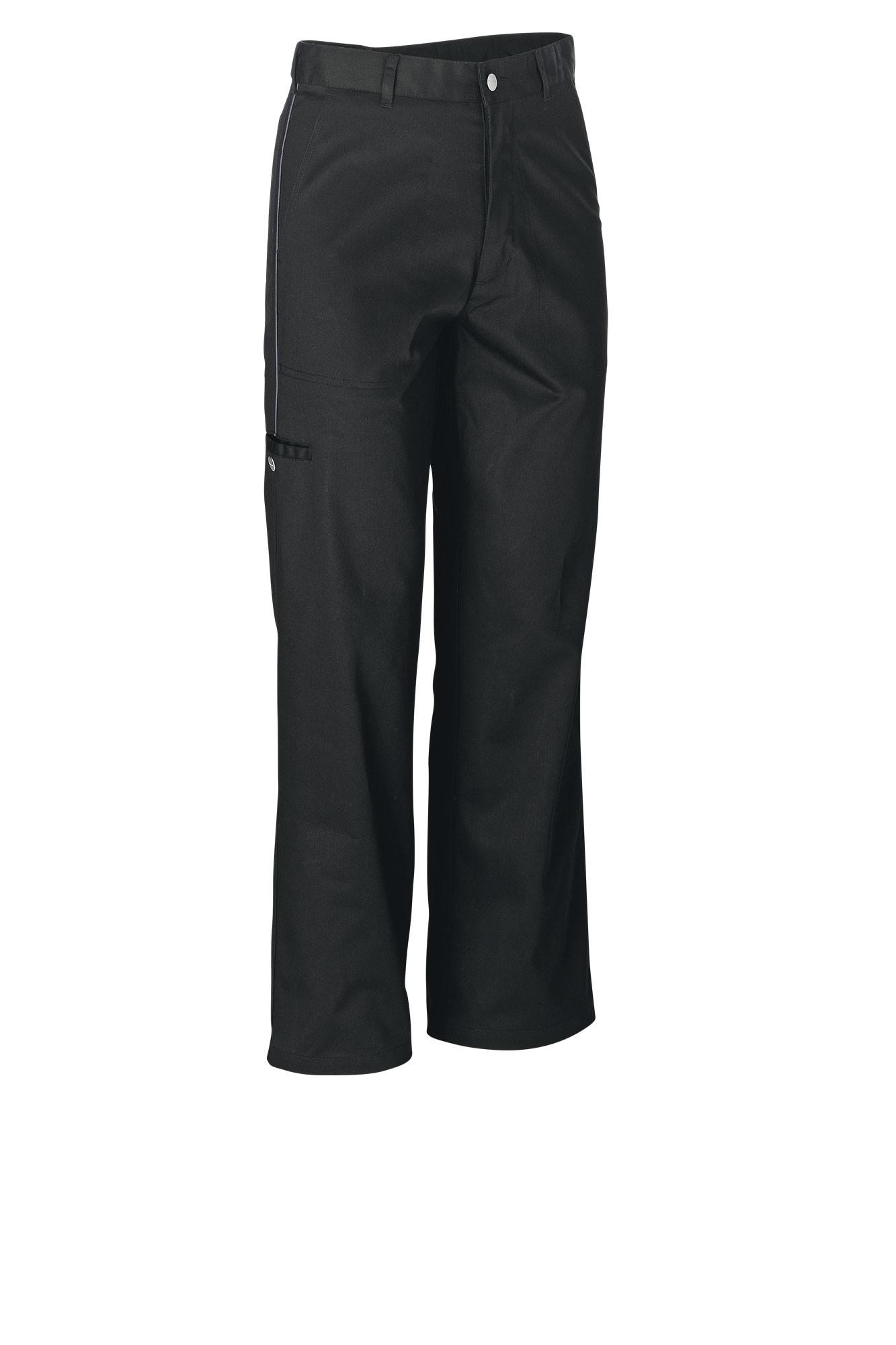 Pánské kalhoty Colin - černá/lem šedá