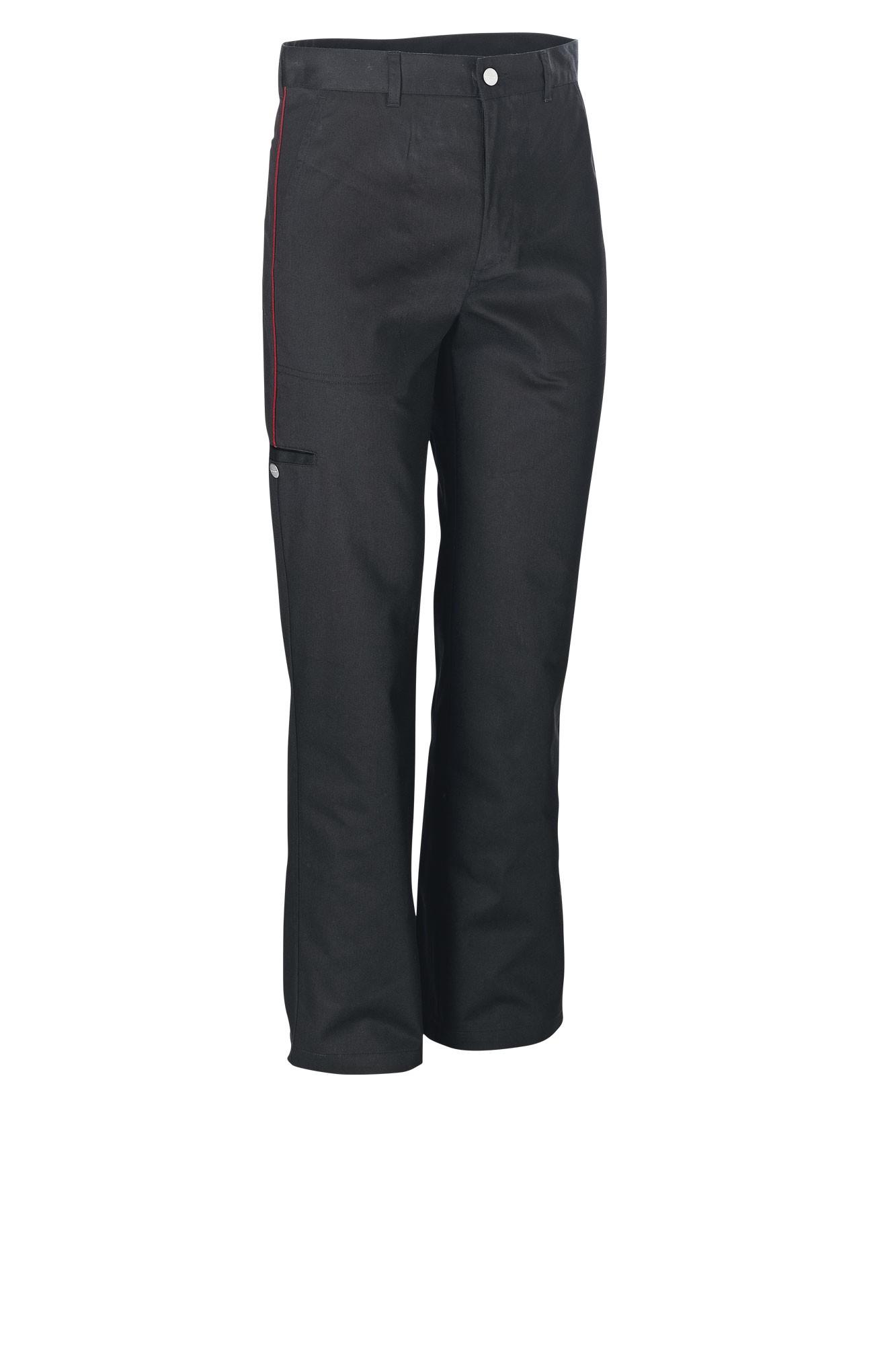 Pánské kalhoty Colin - černá/lem červená