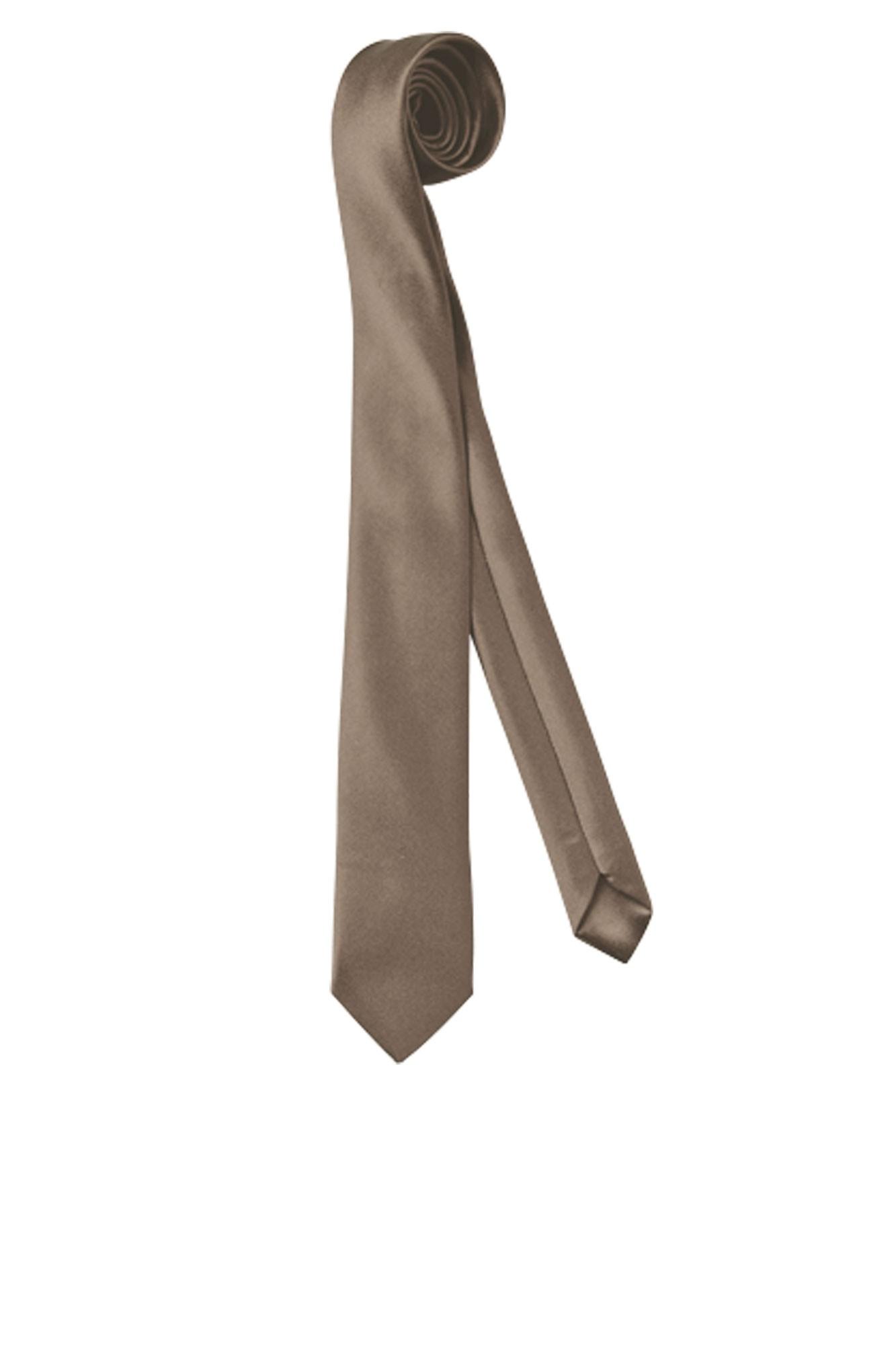 Kravata Color, úzká - šedohnědá