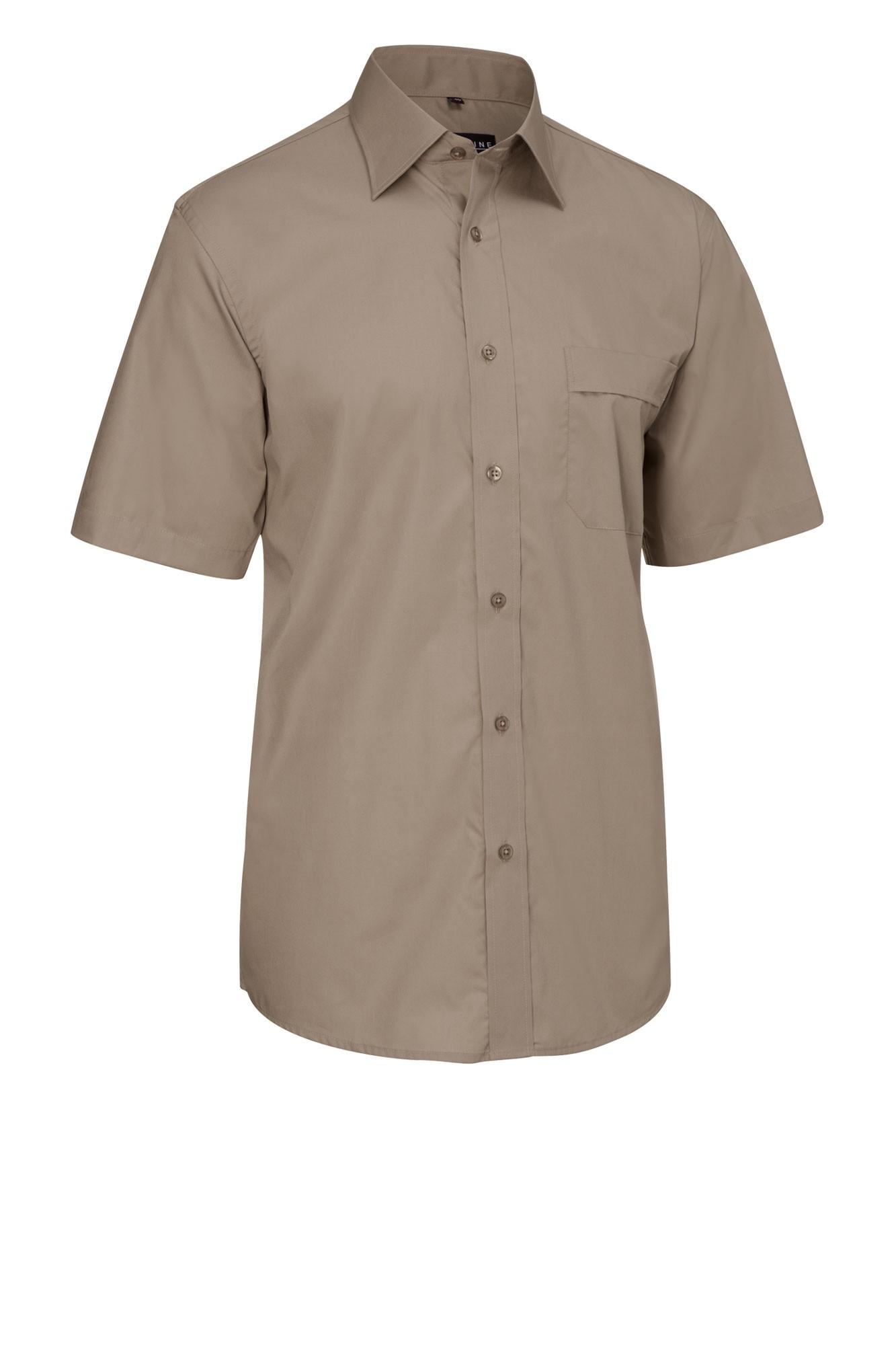 Pánská košile Marc - šedohnědá/krátký rukáv