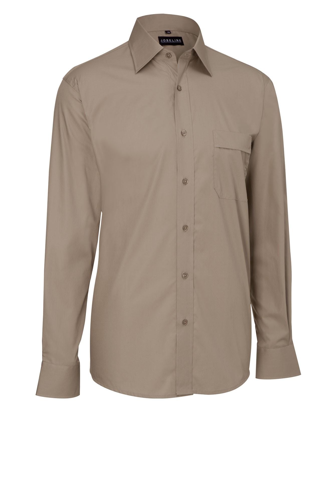 Pánská košile Marc - šedohnědá/dlouhý rukáv