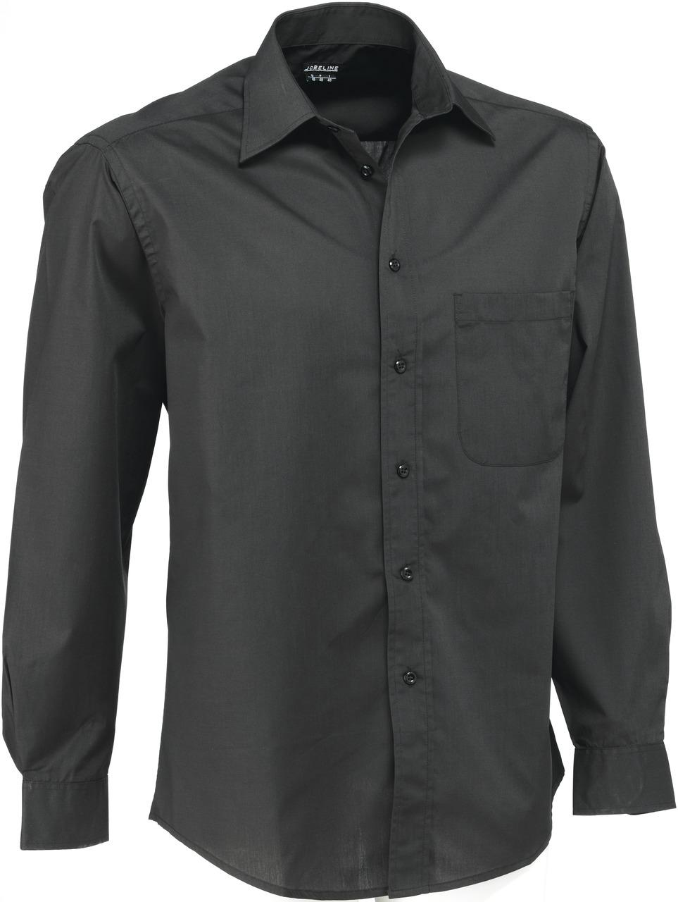 Pánská košile Rico - černá/dlouhý rukáv