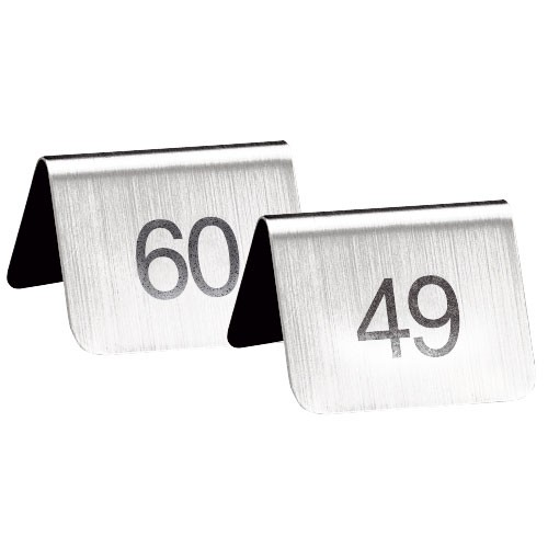 Stojánky s čísly 49 - 60