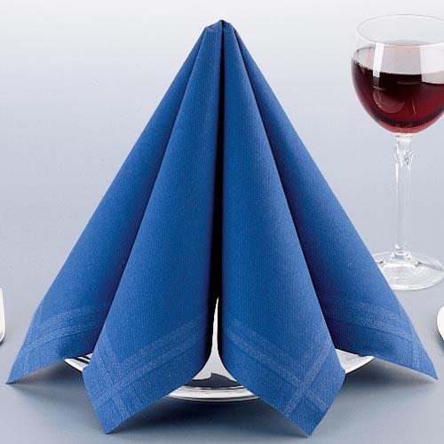 Papírové ubrousky s okrajem - modrá