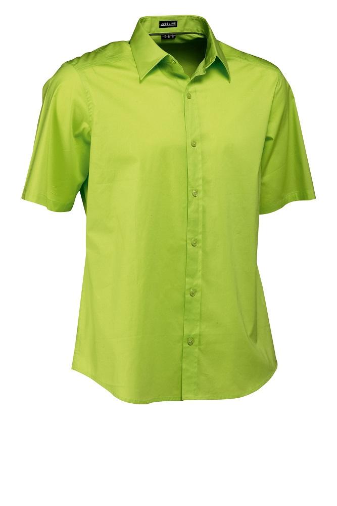 Pánská košile Bruce - světle zelená/krátký rukáv