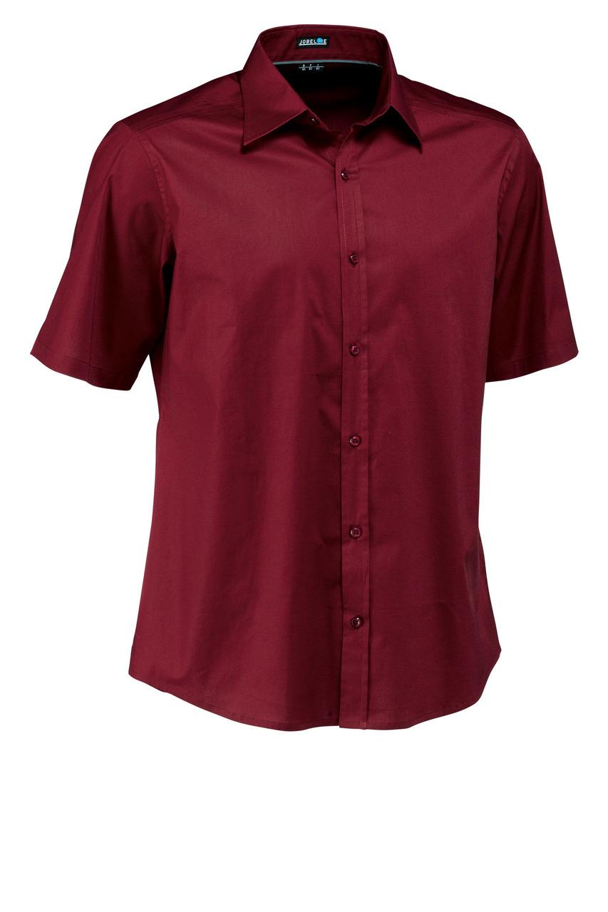 Pánská košile Bruce - bordó/krátký rukáv