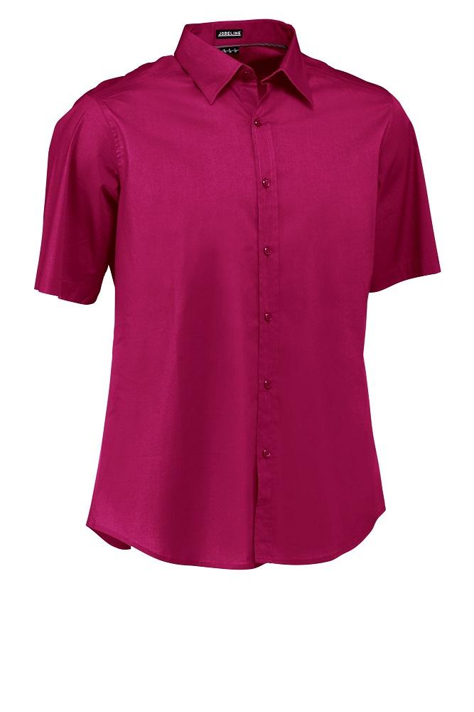 Pánská košile Bruce - ostružina/krátký rukáv