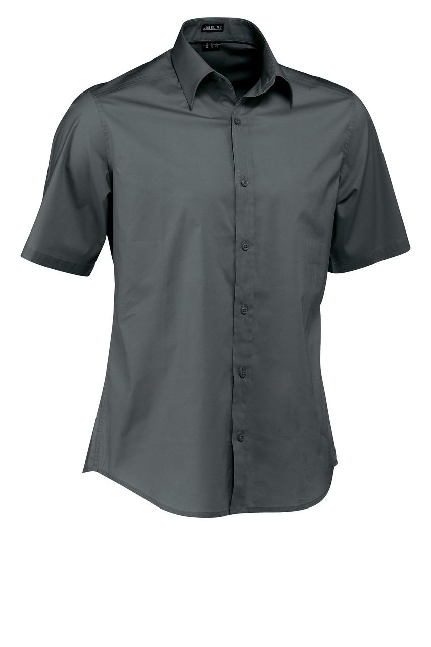 Pánská košile Bruce - šedá/krátký rukáv