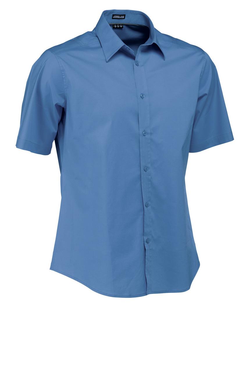 Pánská košile Bruce - modrá/krátký rukáv