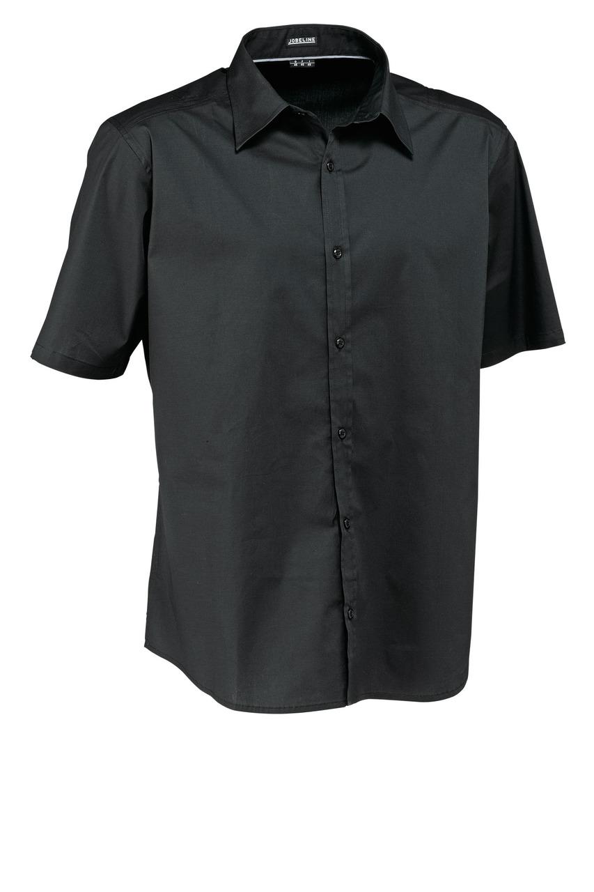Pánská košile Bruce - černá/krátký rukáv