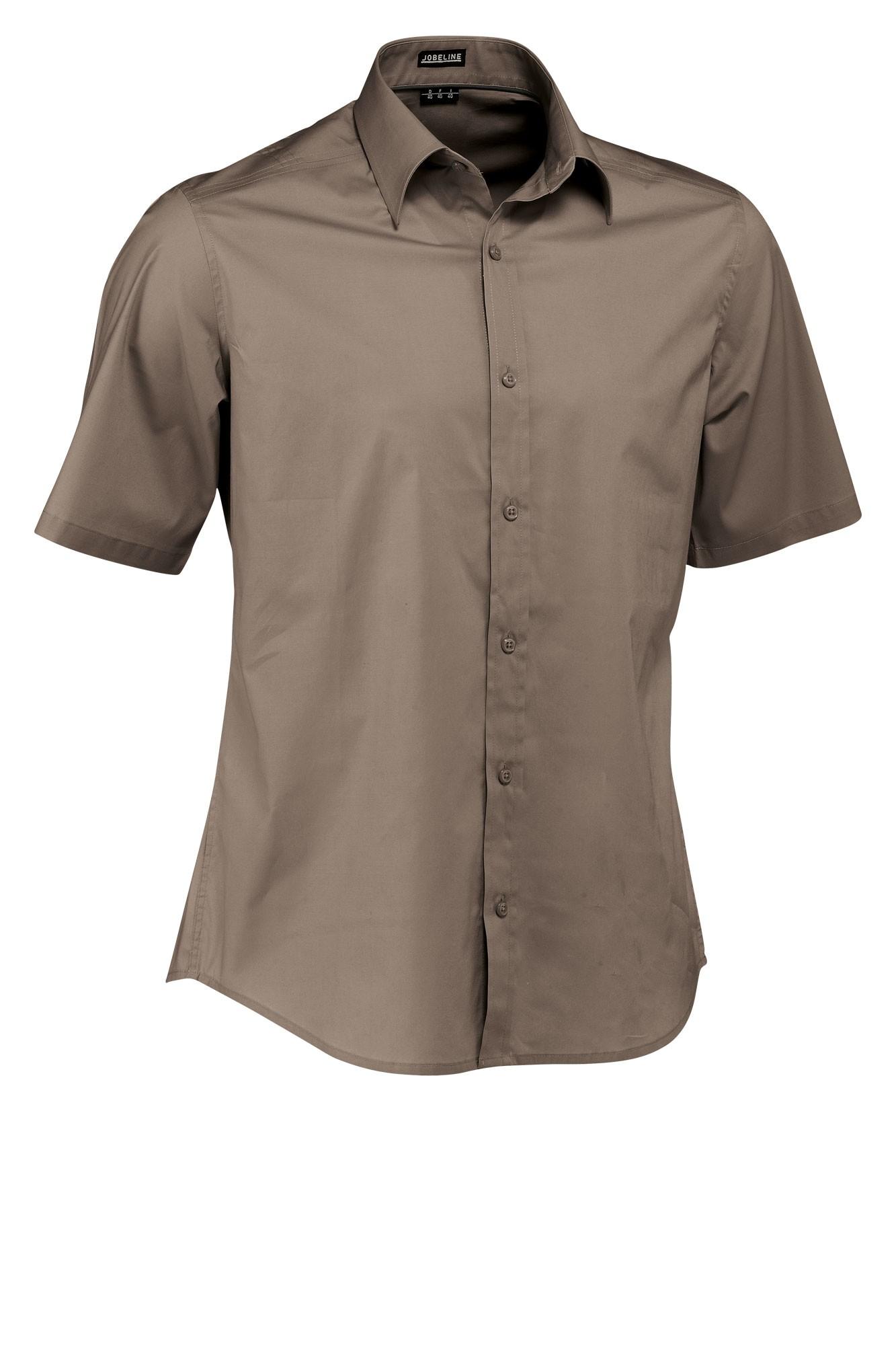 Pánská košile Bruce - šedohnědá/krátký rukáv
