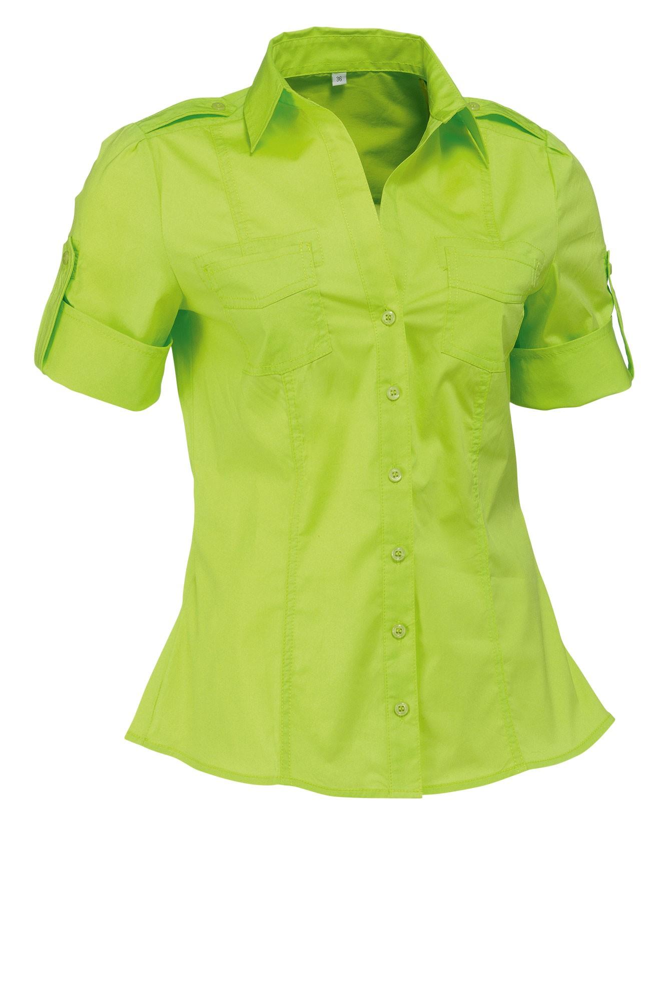 Dámská blůza Kate - světle zelená/krátký rukáv
