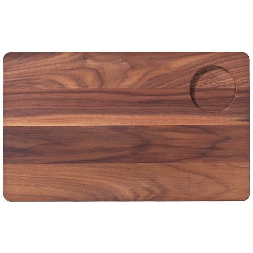 Dřevěné servírovací prkénko Vesper, se zářezem - ořech