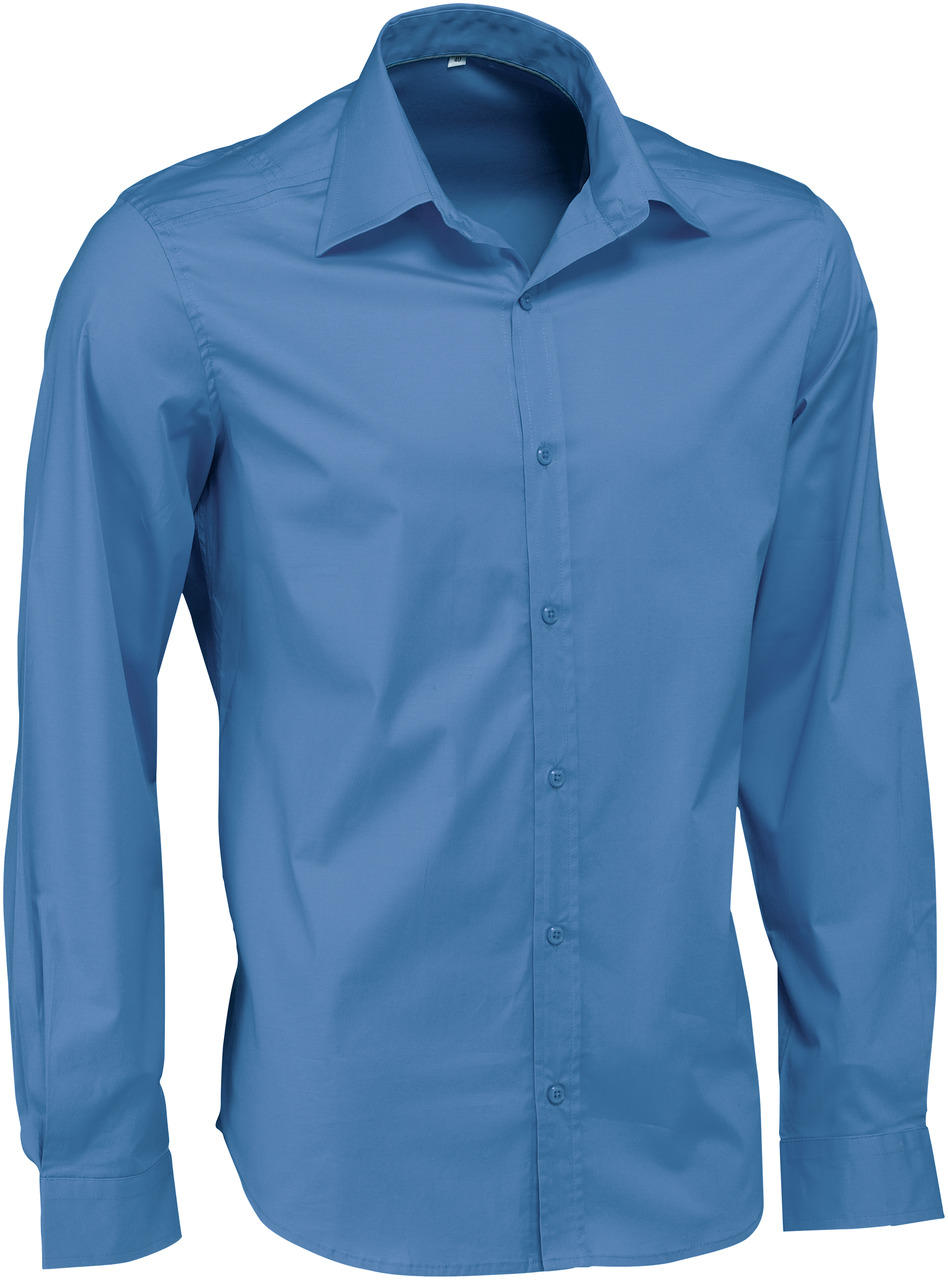 Pánská košile Bruce - modrá/dlouhý rukáv
