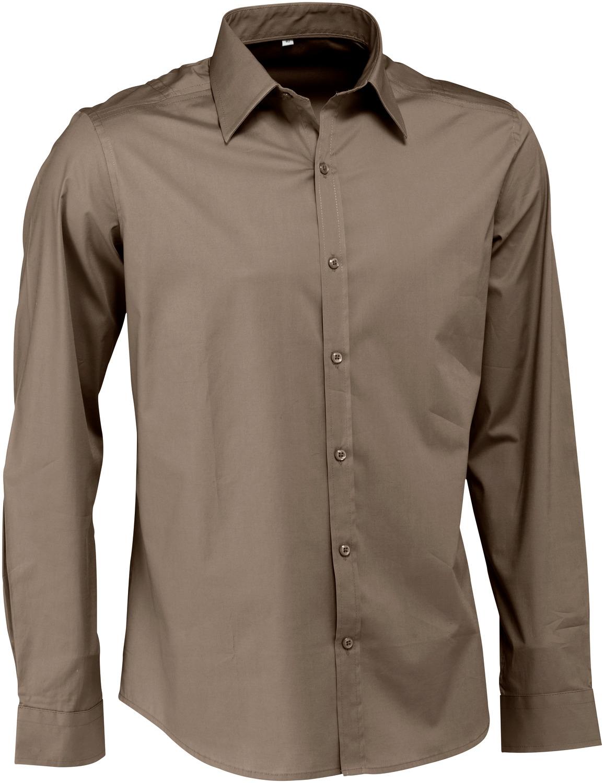 Pánská košile Bruce - šedohnědá/dlouhý rukáv