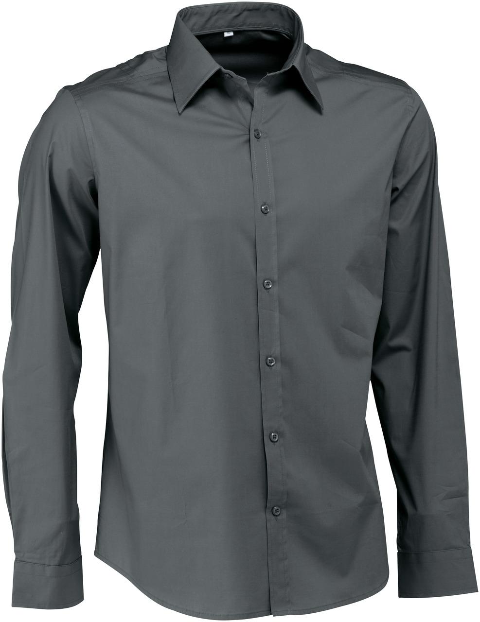 Pánská košile Bruce - šedá/dlouhý rukáv
