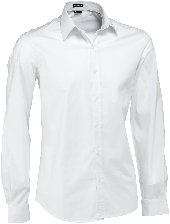Pánská košile Bruce - bílá/dlouhý rukáv