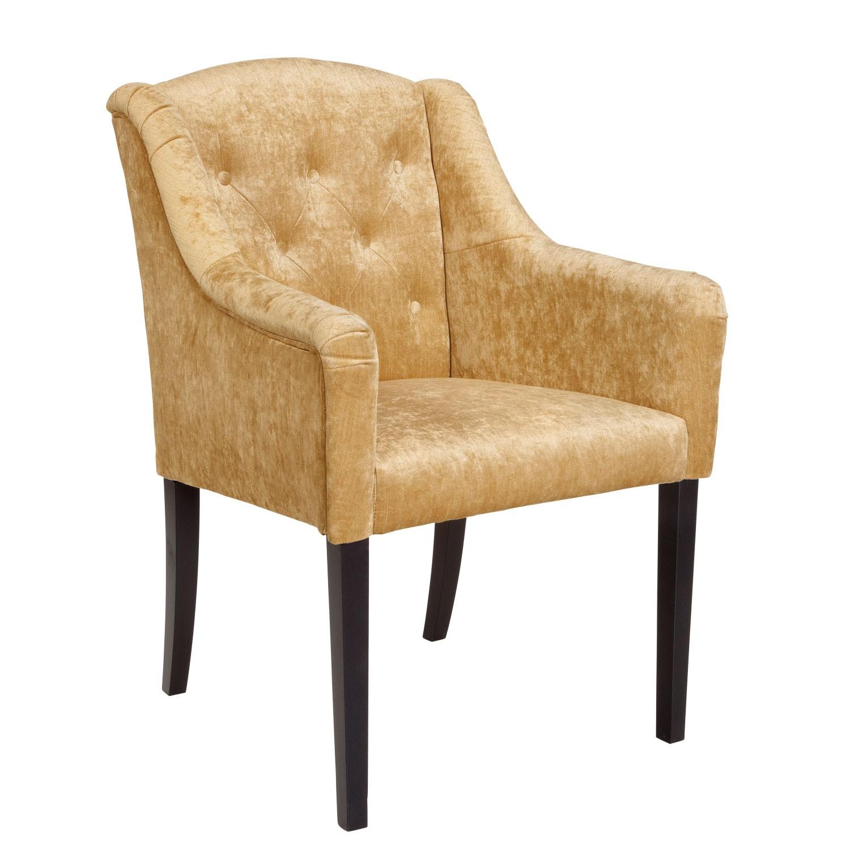 Židle s područkami Teatro - zlatá