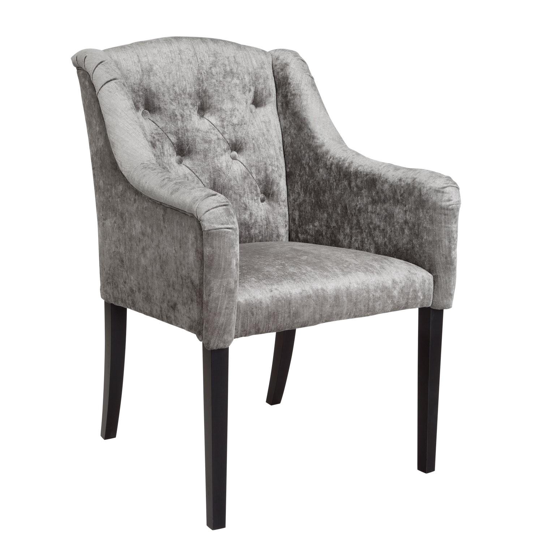 Židle s područkami Teatro - šedohnědá