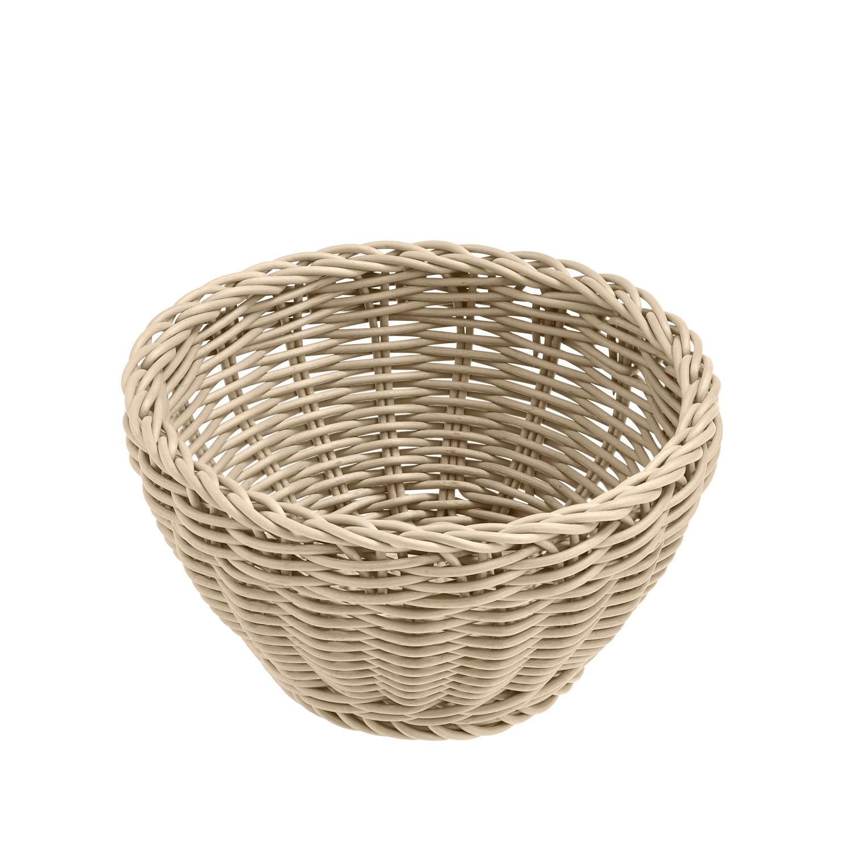 Košík Igato, bílý, kulatý