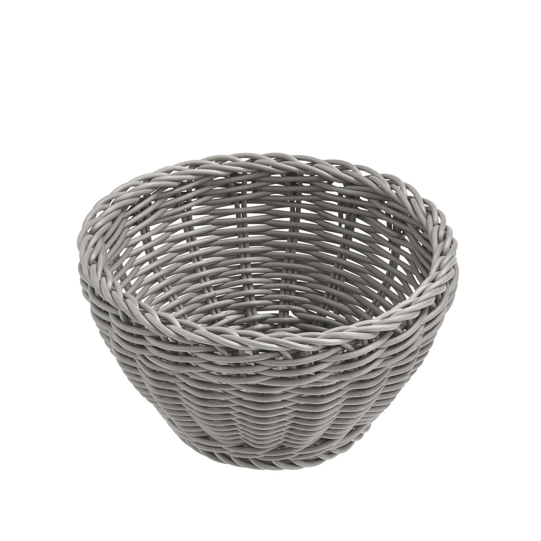 Košík Igato, šedý, kulatý