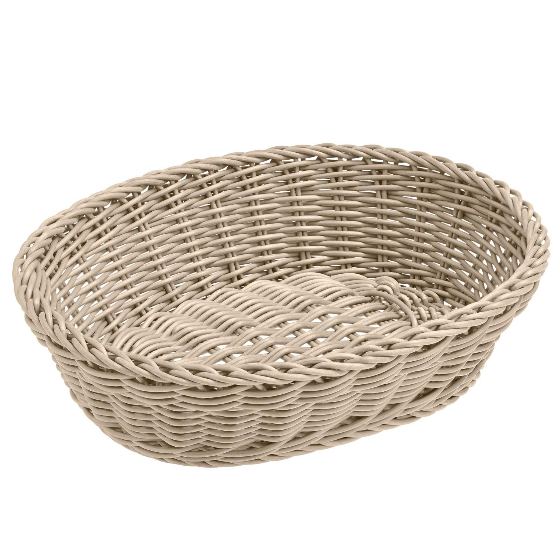 Košík Igato, bílý, oválný
