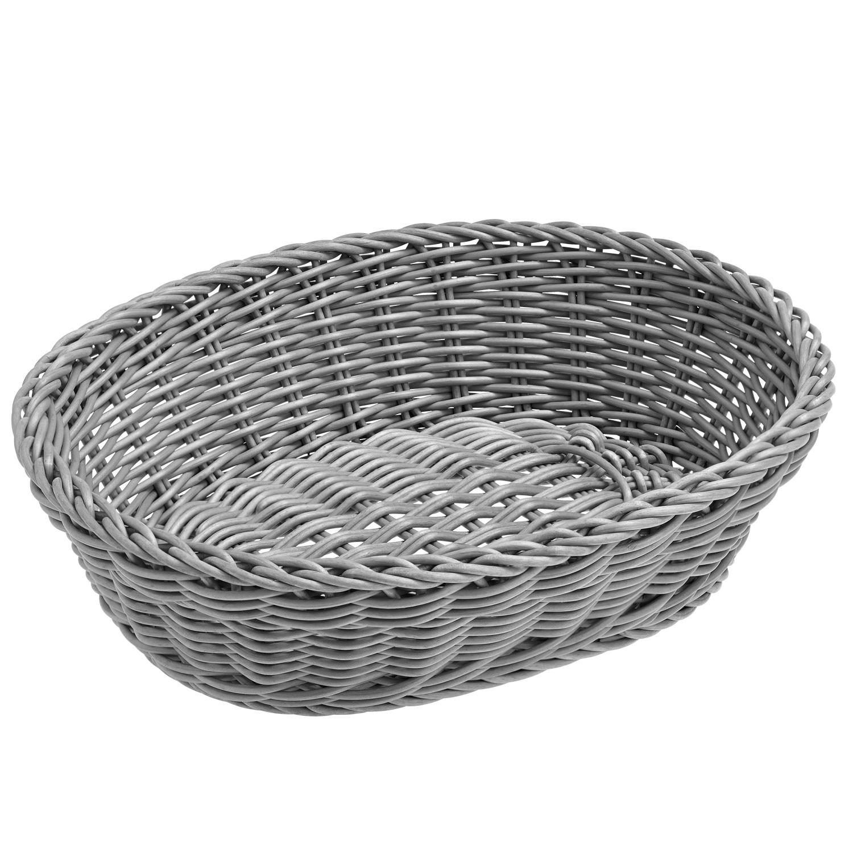 Košík Igato, šedý, oválný
