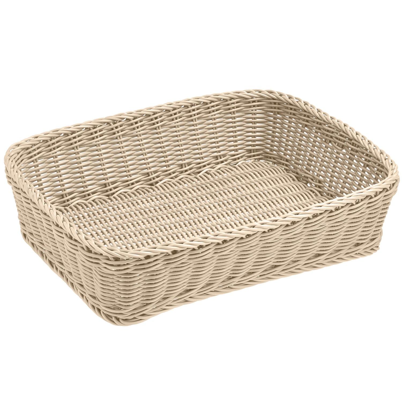 Košík Igato, bílý, hranatý