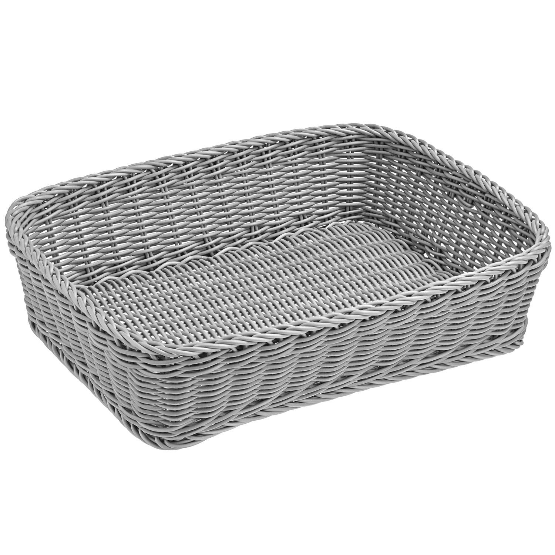 Košík Igato, šedý, hranatý
