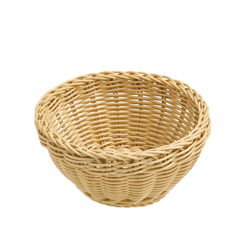 Košík Igato, béžový, kulatý