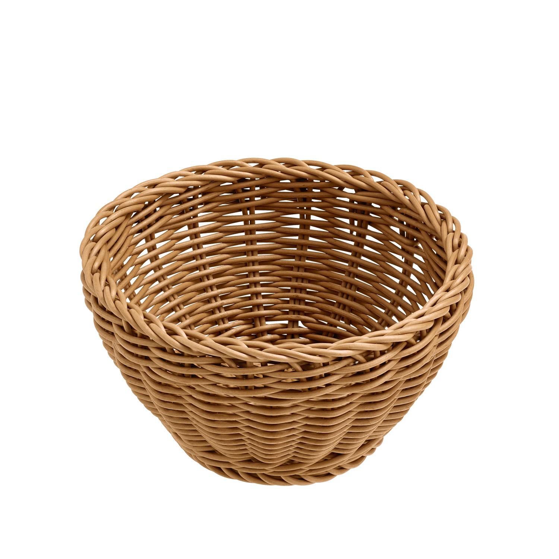 Košík Igato, hnědý, kulatý