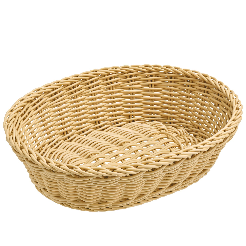 Košík Igato, béžový, oválný