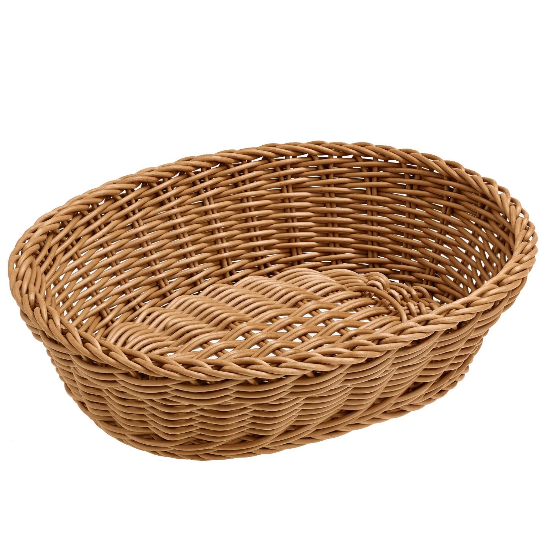 Košík Igato, hnědý, oválný