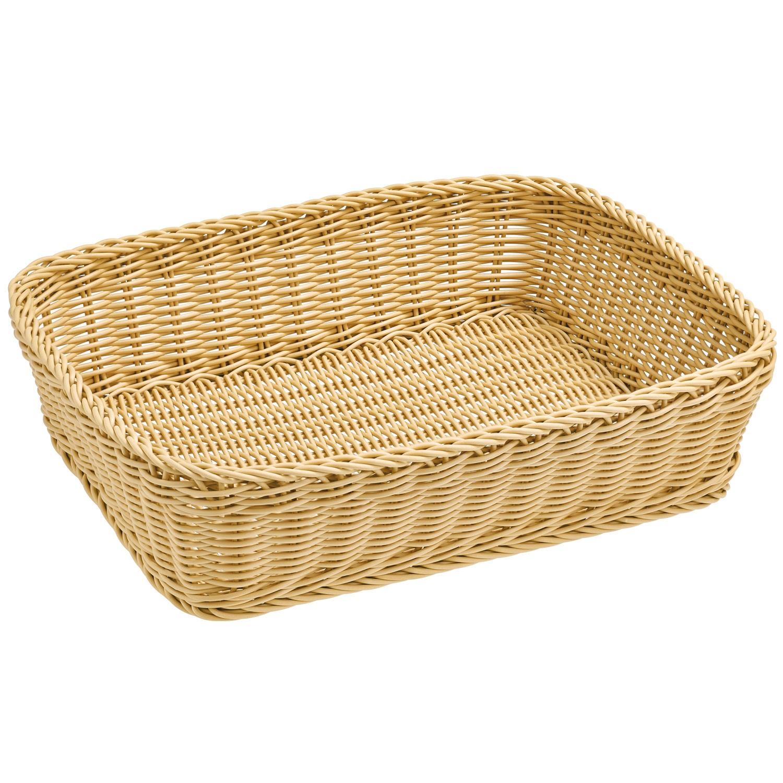 Košík Igato, béžový, hranatý