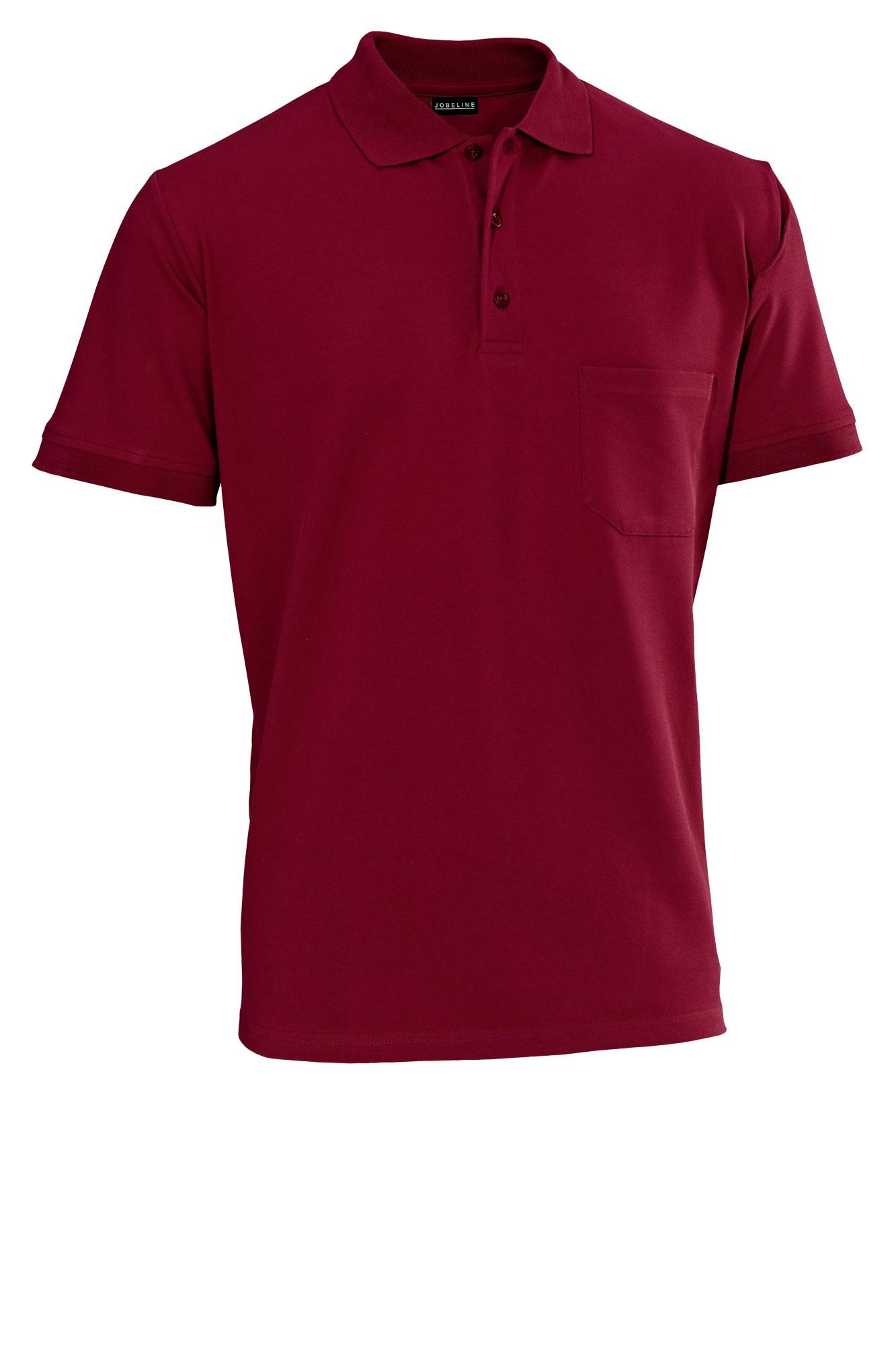 Pánské tričko Cato - bordó/krátký rukáv
