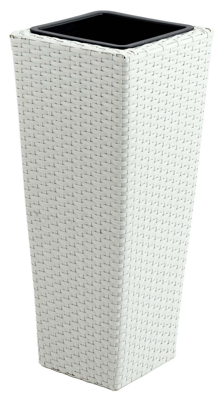 Obal na květináč, vintage bílá, 35x35x80cm