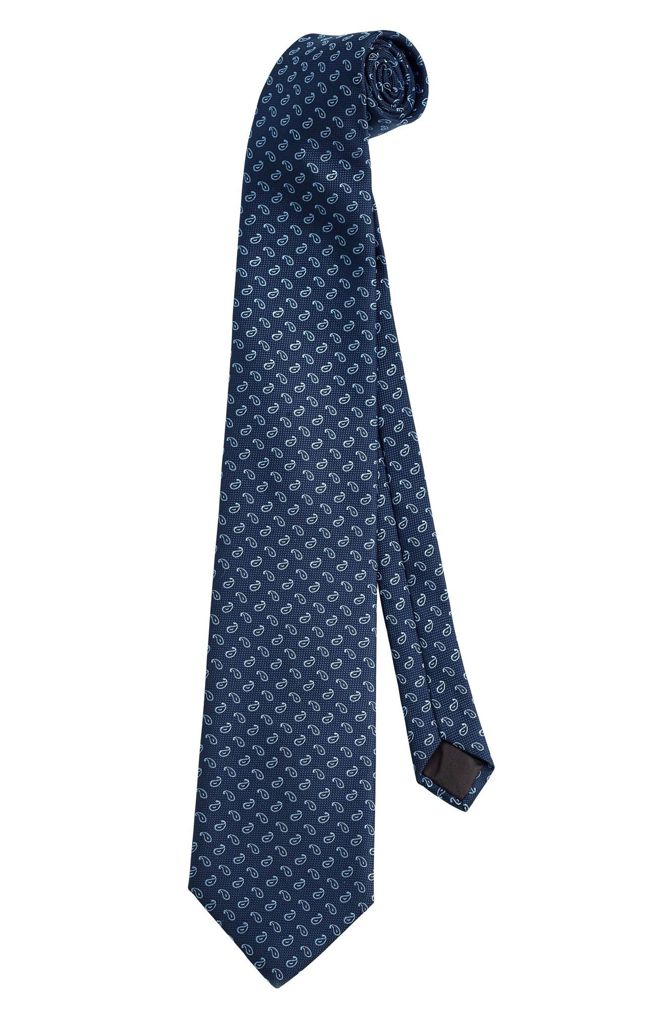 Kravata Paisley - modrá/šedá