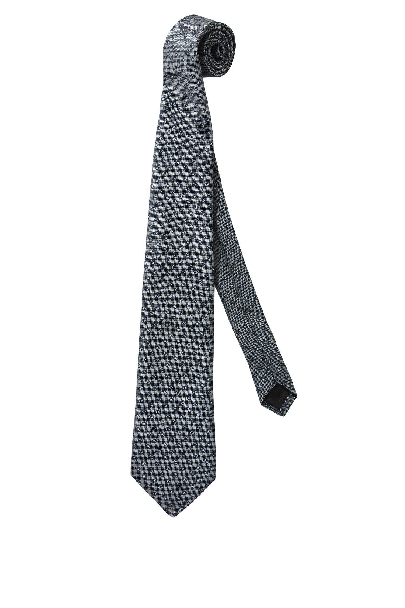 Kravata Paisley - šedá/modrá
