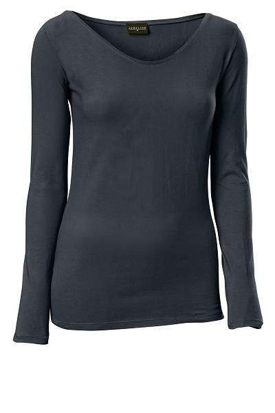 Dámské tričko Double - dlouhý rukáv/černá