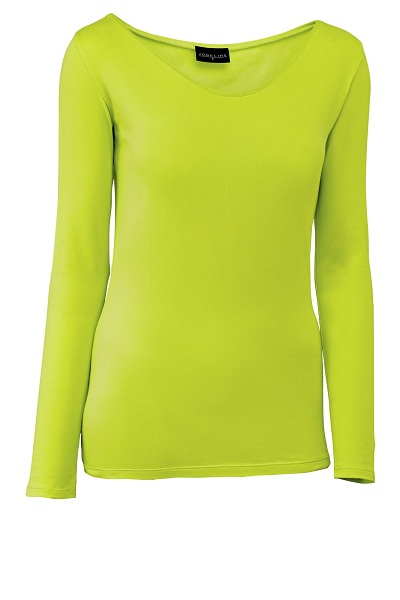 Dámské tričko Double - dlouhý rukáv/světle zelená