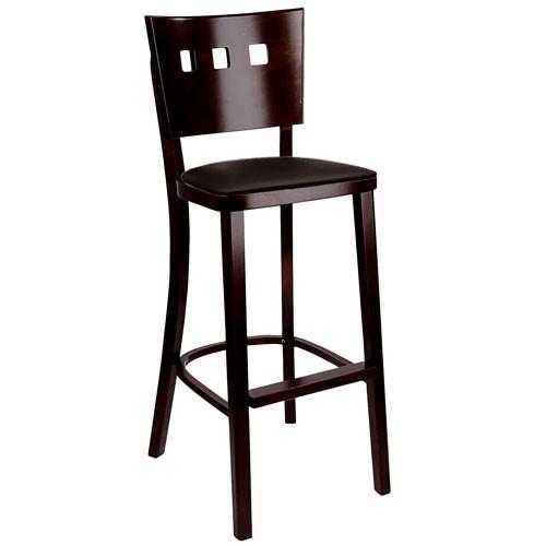 Barová židle Trendy s koženým sedákem