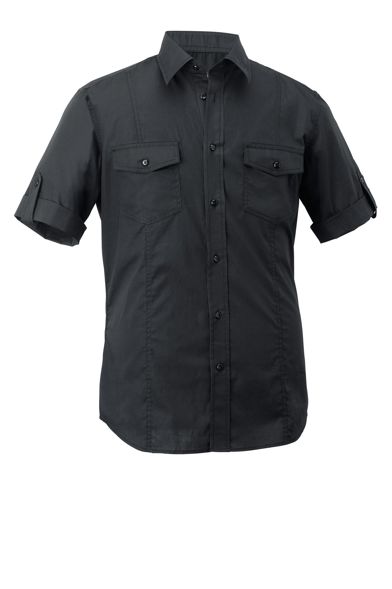Pánská košile Jules - černá/krátký rukáv