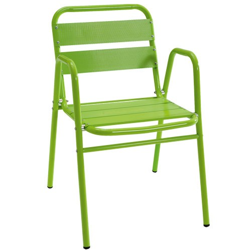 Židle Alu, zelená