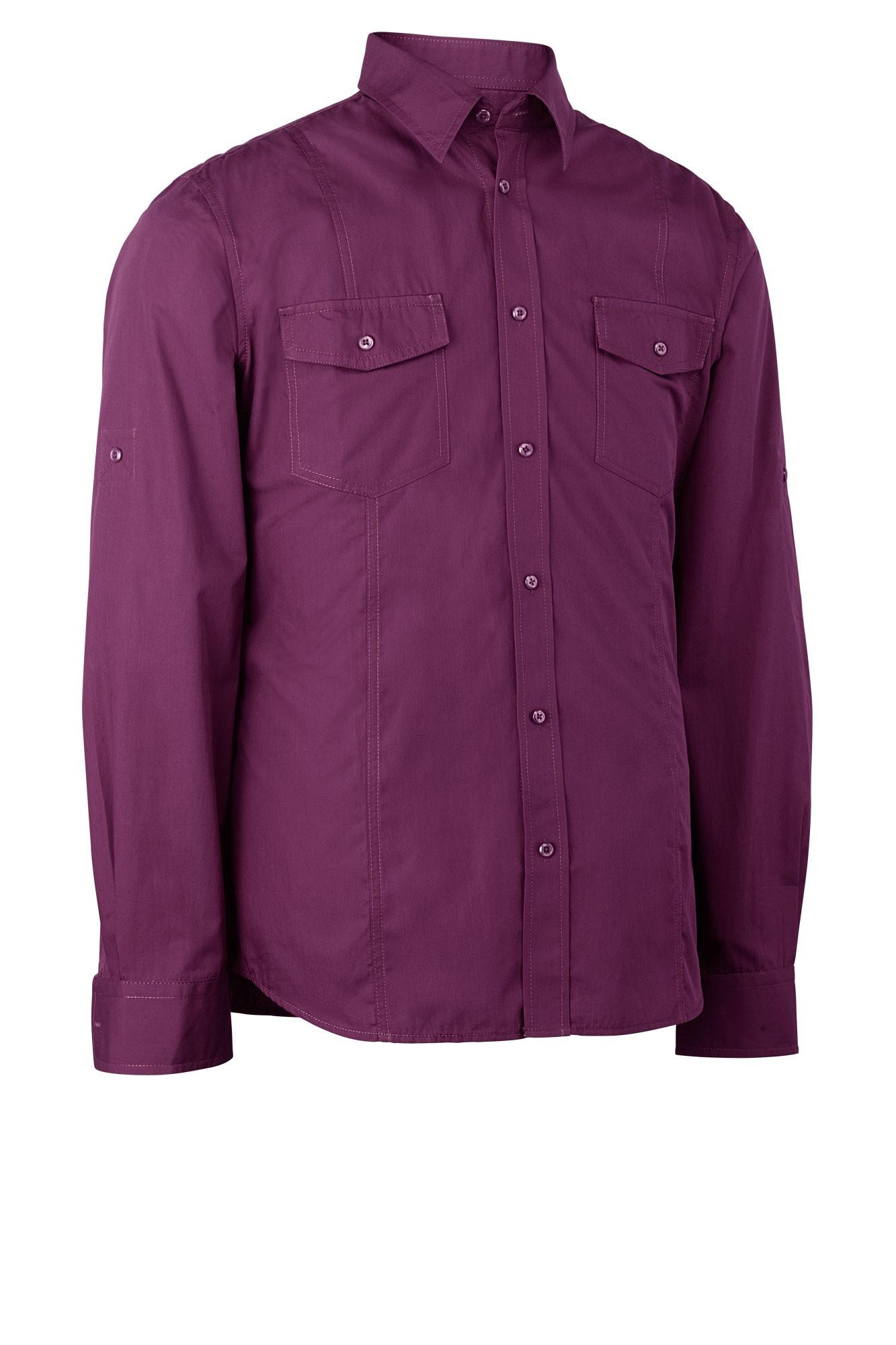 Pánská košile Jules - švestková/dlouhý rukáv