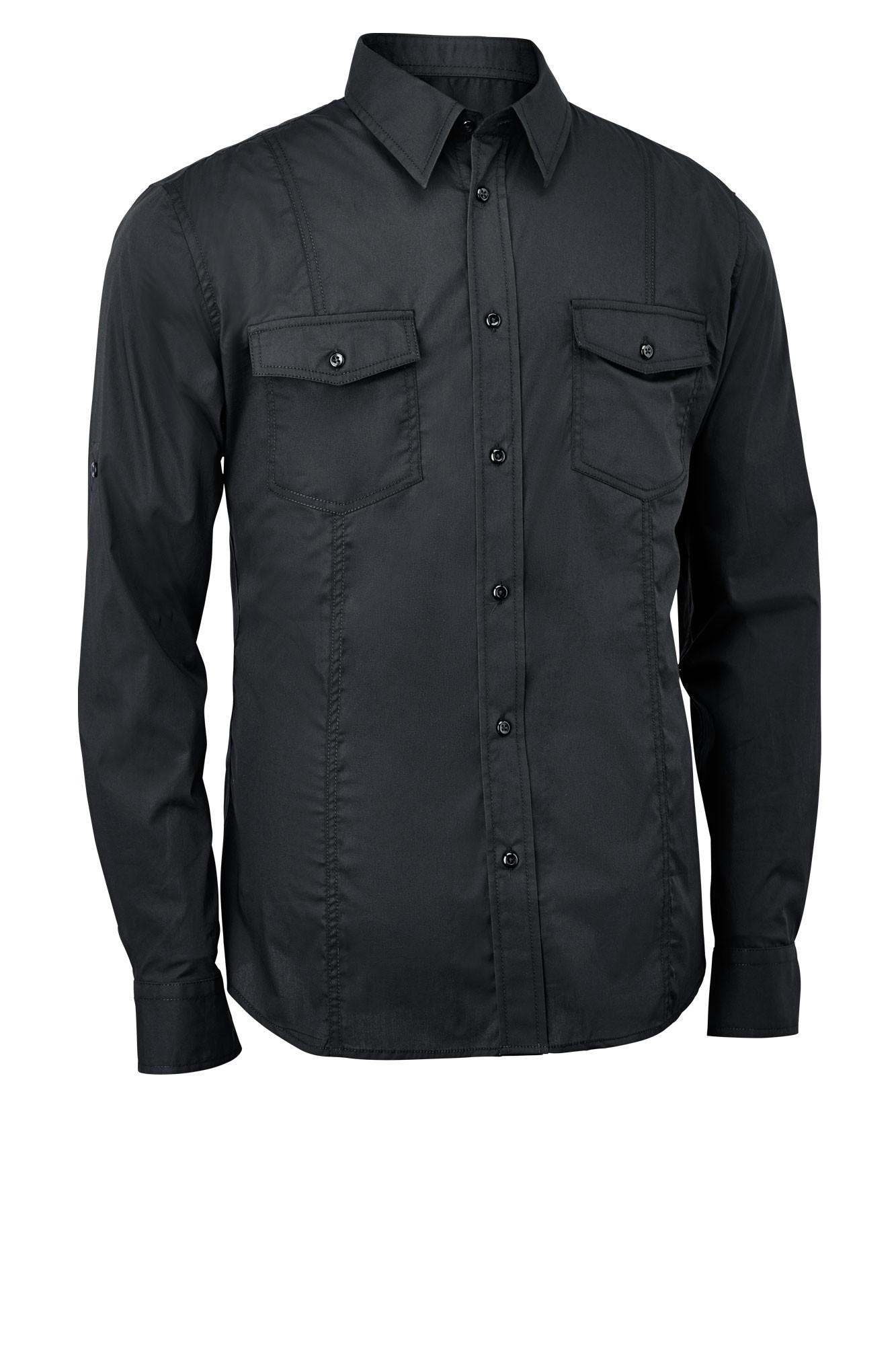 Pánská košile Jules - černá/dlouhý rukáv