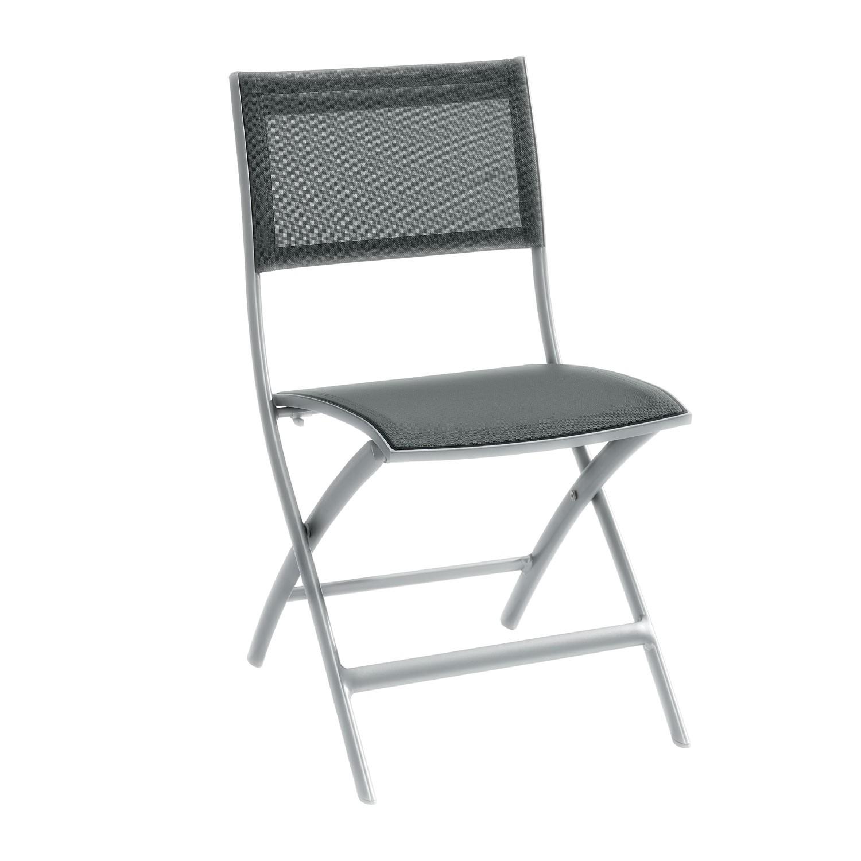 Židle Belize - antracitová/stříbrná